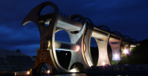 The Falkirk Wheel at Night © Vincent Tweed